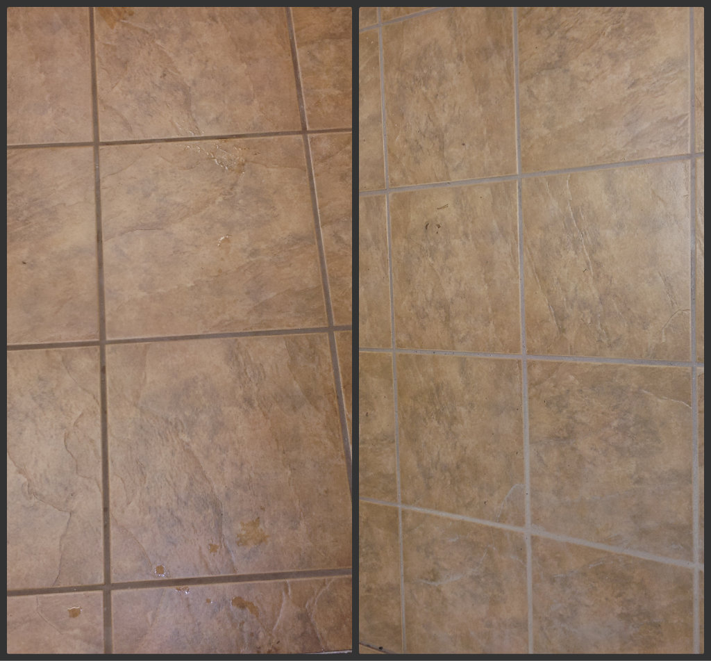 Ceramic tile cleaning before and after moncton riverview dieppe new brunswick